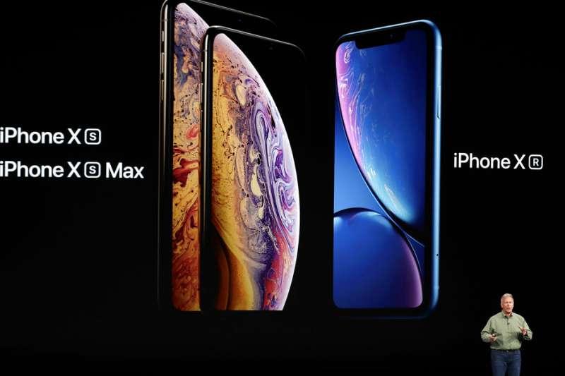 2018年9月12日,蘋果電腦舉行秋季發表會,發售3款新iPhone:iPhone XS、iPhone XS Max與iPhone XR。(美聯社)
