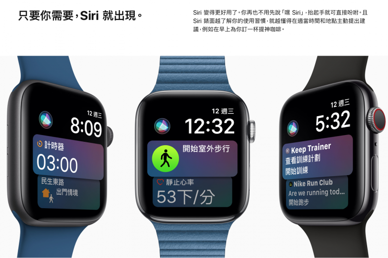 第四代Apple Watch。(翻攝官網)