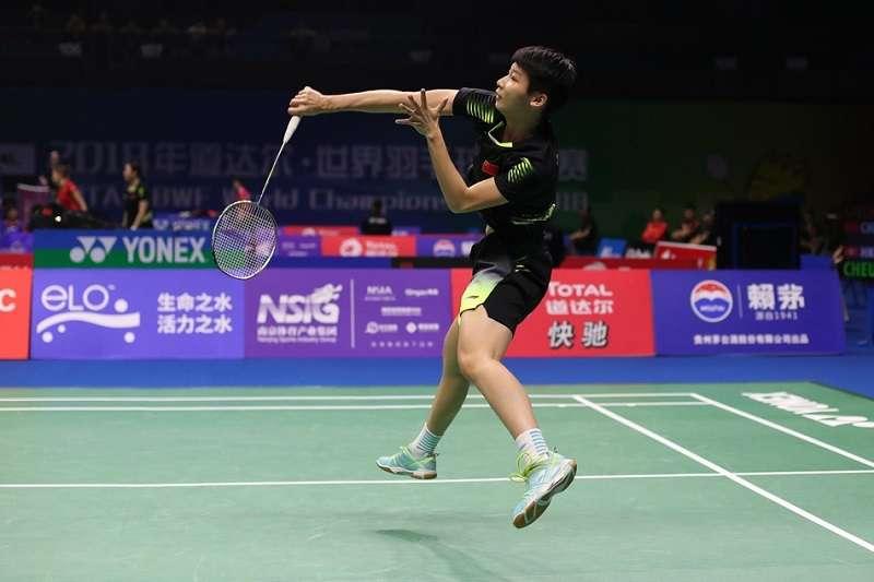 陳曉欣在日本公開賽16強,以直落二擊敗當金球后戴資穎。 (圖/取自新浪網)