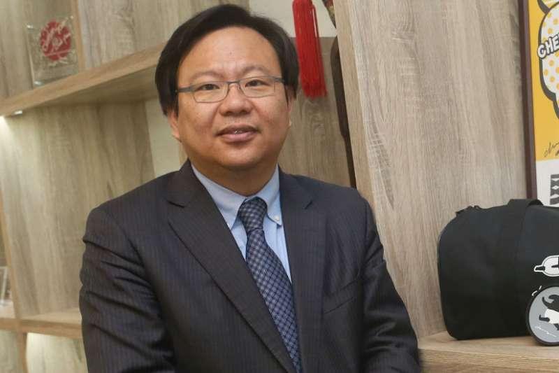 LINE在今年找來了劉奕成,負責主導台灣LINE Finance計畫。(柯承惠攝)