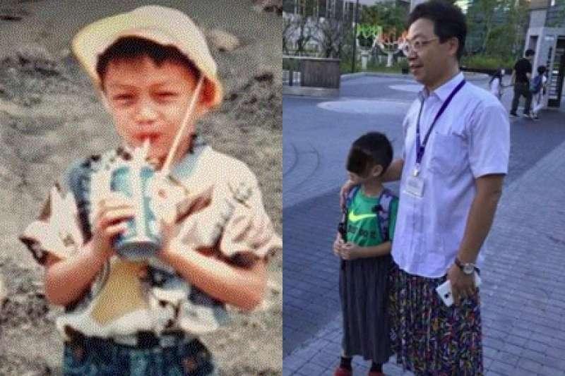 圖左為玫瑰少年葉永鋕,圖右為和平實驗國小校長黃志順。(取自網路/風傳媒合成)