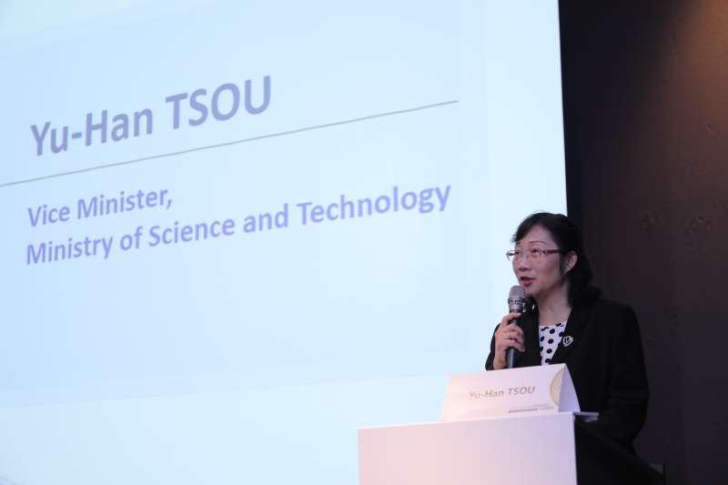 台法科技獎邁入第20屆,科技部次長鄒幼涵到場致詞。(資料照片,科技部提供)