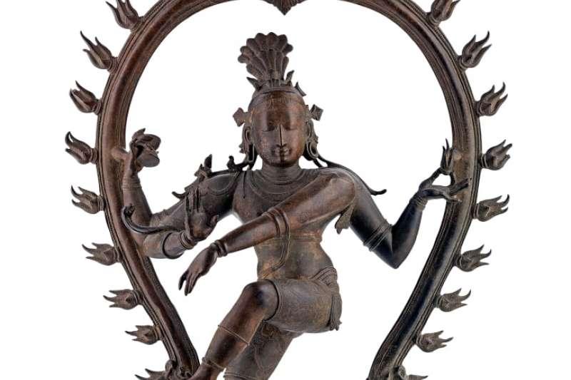 澳洲南澳美術館收藏的印度教神像「跳舞濕婆」,證實是1970年從印度寺廟中遭竊的贓物。(南澳美術館)