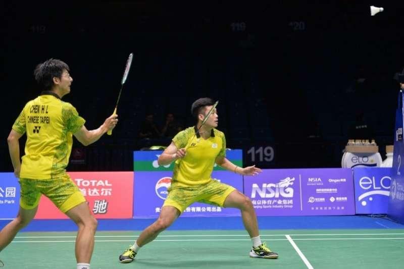王齊麟/陳宏麟在日本公開賽8強賽以直落二擊敗南韓組合,成功報了亞運男雙首輪的一箭之仇。 (資料照,圖片取自世錦賽官網)
