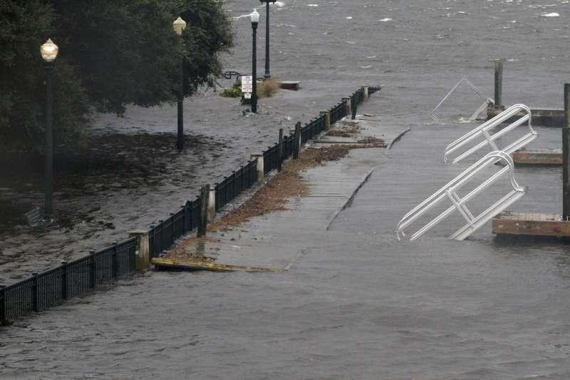 颶風「佛羅倫斯」直撲美國東南部。(AP)