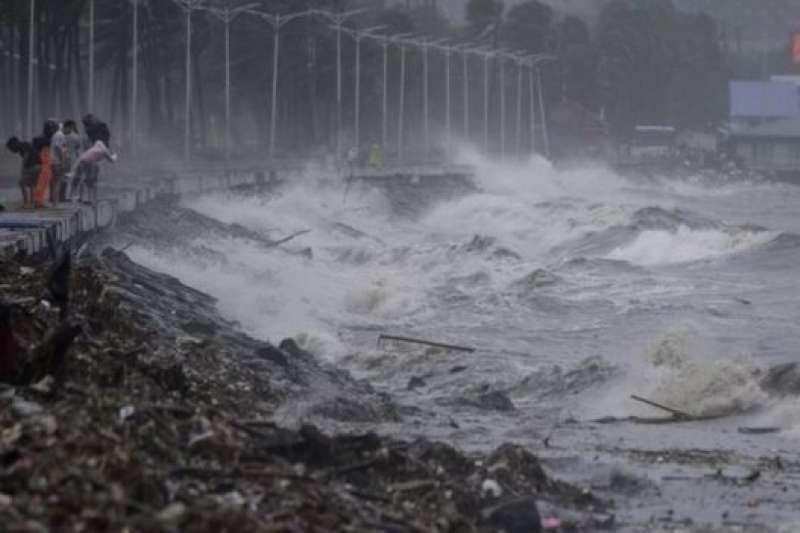 颱風登陸後的馬尼拉。(BBC中文網)