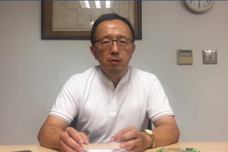 台大政治系教授蘇宏達於16日凌晨於臉書發布影片呼籲,希望外交部能公佈政治任命使節名單。(截圖自蘇宏達粉絲專頁)