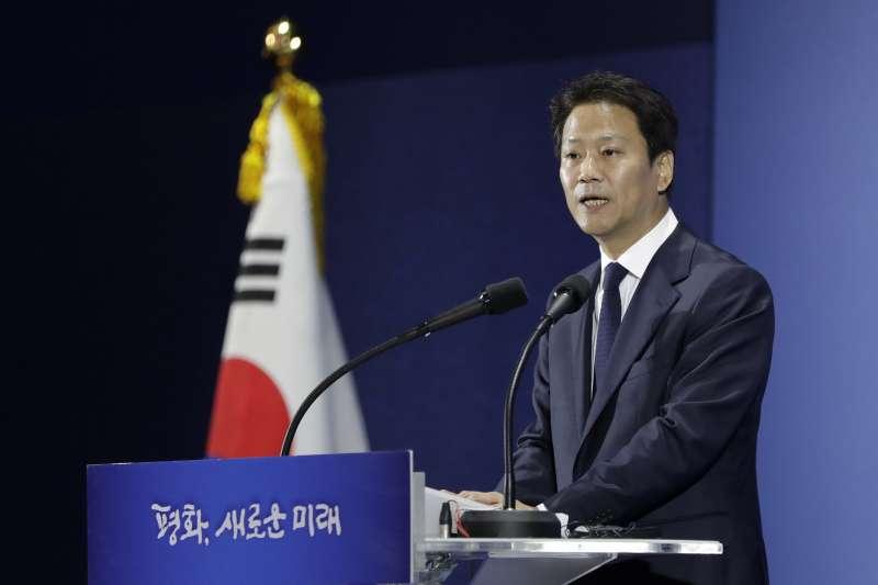 南韓總統府青瓦台秘書室長任鍾晳。(美聯社)