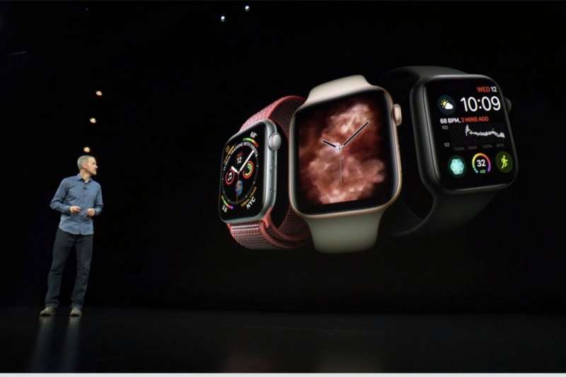 9月發表的Apple Watch Series4增加了突破性的功能(跌倒偵測及心電圖),總算再次掀起健康醫療應用的話題,奪得了消費者的眼光。(圖/翻攝至網路)