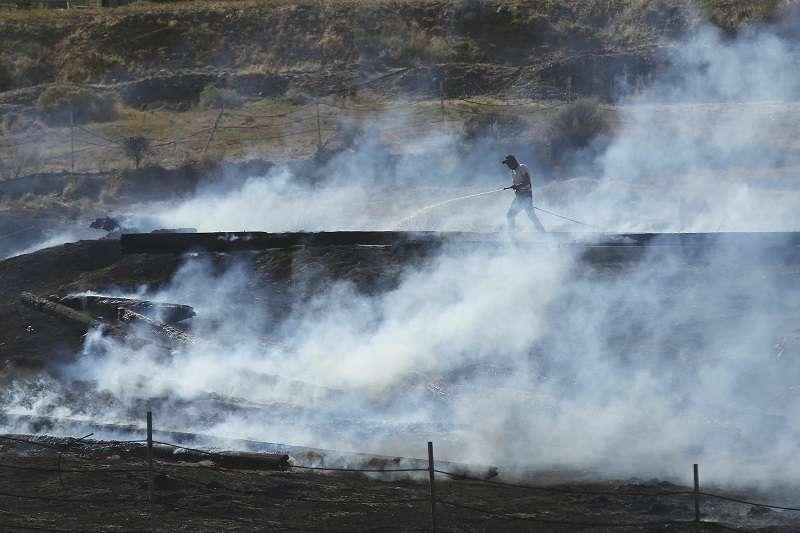 美國猶他州森林大火仍然在持續延燒。 (美聯社)