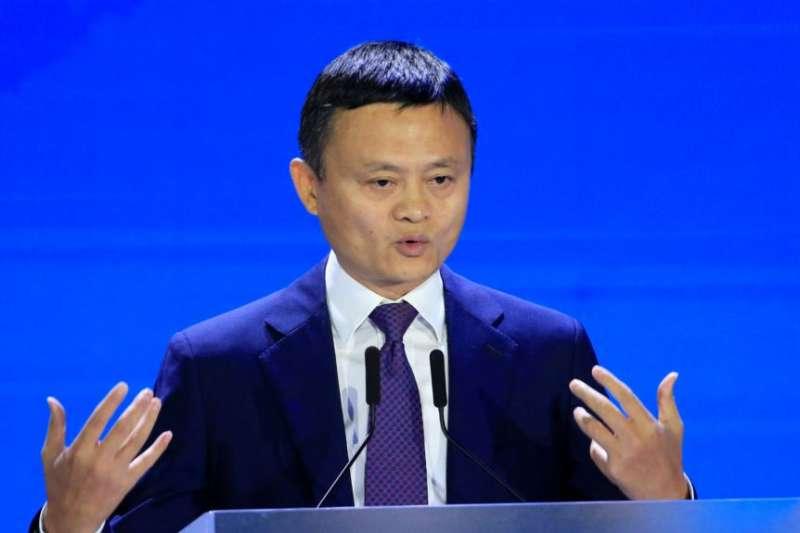 阿里巴巴集團董事局主席馬雲在上海出席2018世界人工智能大會。(美國之音)