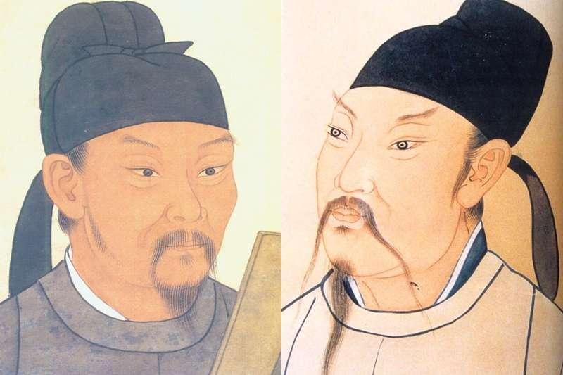 原來杜甫(左)對李白很痴情?(圖/維基百科)