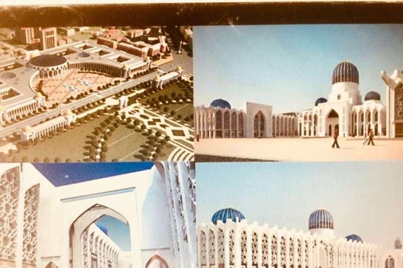 社交網路與當地媒體上,流傳的塔吉克議會、政府大廈建築設計圖(美國之音)
