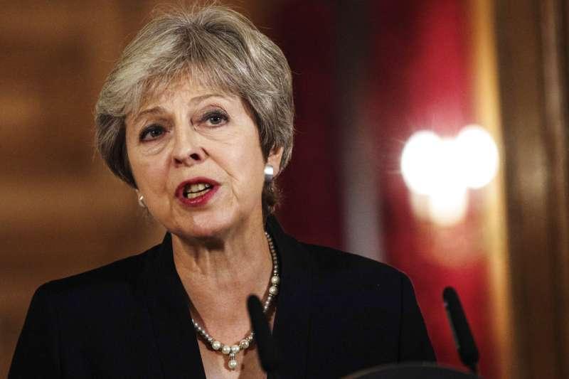 英國首相梅伊。(AP)