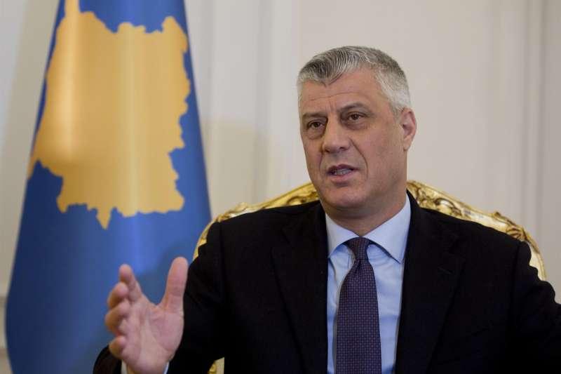 科索沃總統塔奇表示,若以色列給予外交承認,科索沃就在耶路撒冷開設大使館(AP)