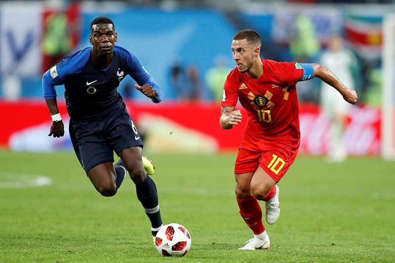 國際足總公布最新的FIFA世界排名,比利時在積分上追平法國,成為FIFA排名制度啟用25年以來,首次有國家並列第一的狀況。(美聯社)