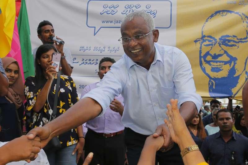 立場親印度的反對派領袖索里勝選,成為新的馬爾地夫總統(AP)