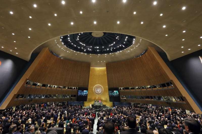 位於美國紐約的聯合國總部(United Nation,UN)至去年開始,拒絕訪客持台灣護照進入總部參觀。(資料照,美聯社)