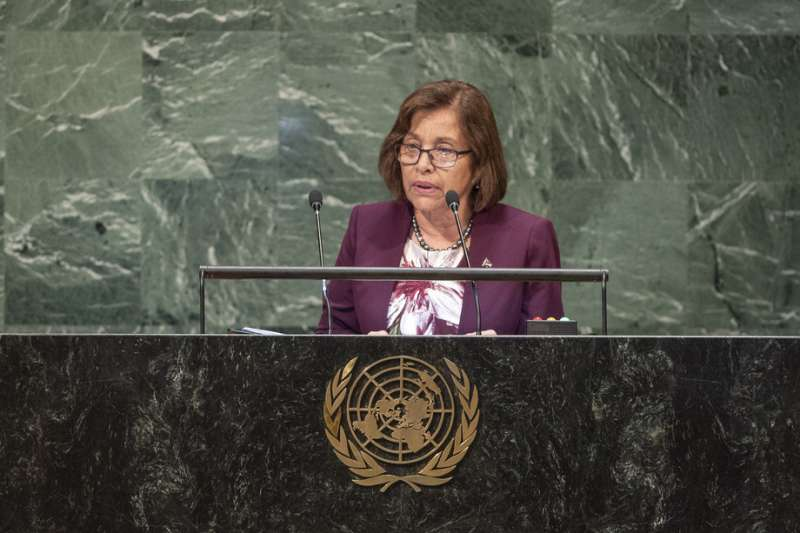 馬紹爾群島總統海妮(Hilda Heine)。(取自聯合國官網)