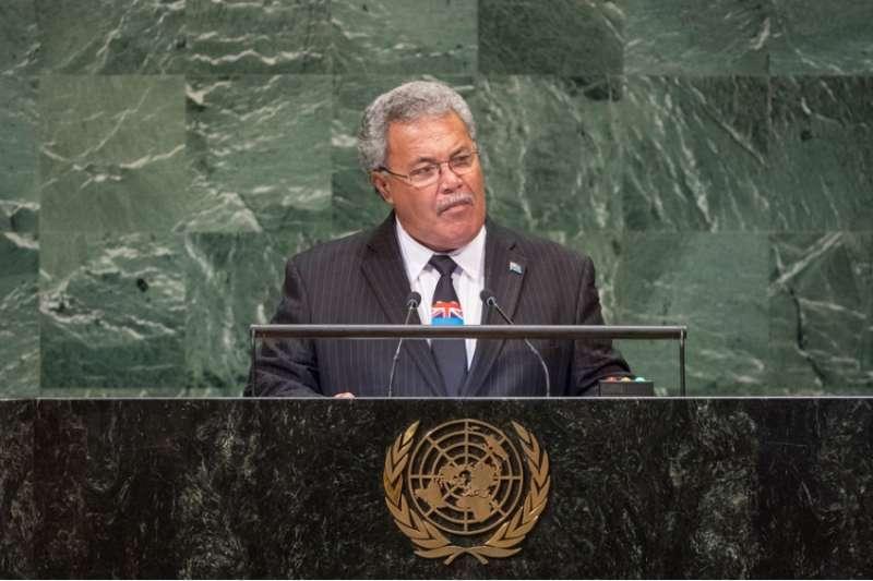 吐瓦魯總理索本嘉。(圖/取自聯合國官網)
