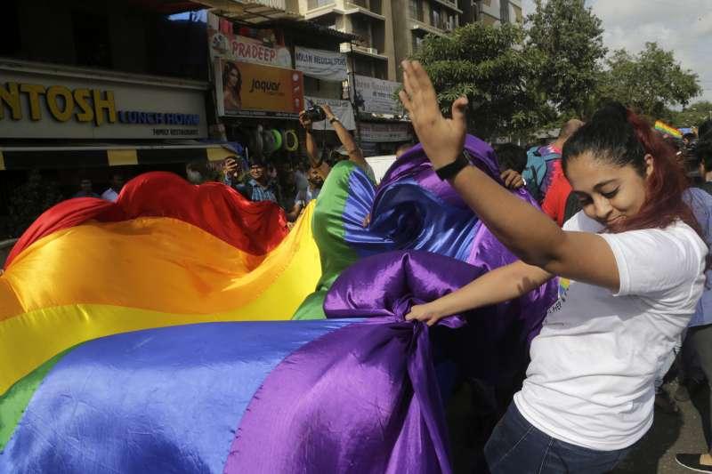 2018年9月,印度最高法院將同性性行為除罪化(AP)