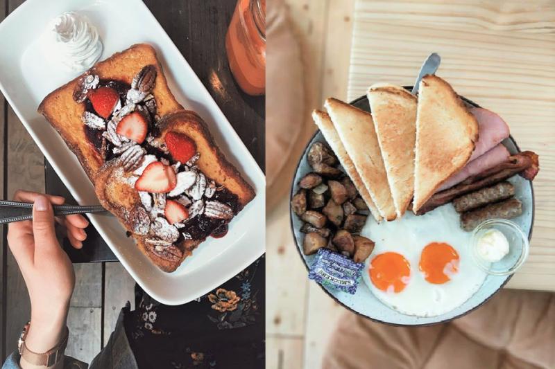 許多富有創意、新舊融合的餐廳坐落於天母,成為台北最具個性的美食聖地。(圖/bombomtae@instagram、taipeifoodie@instagram)