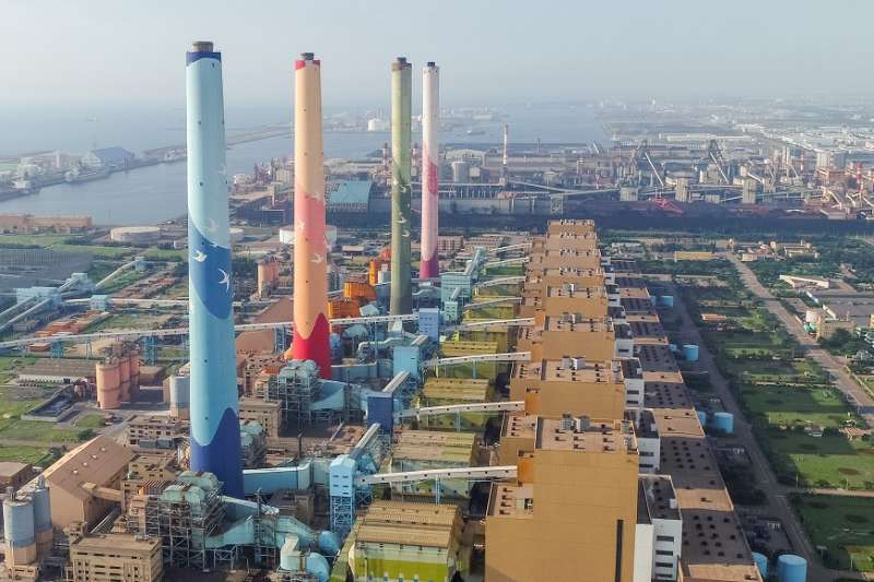 台中火力發電廠逐年減少燃煤使用量。(圖/臺中市政府提供)