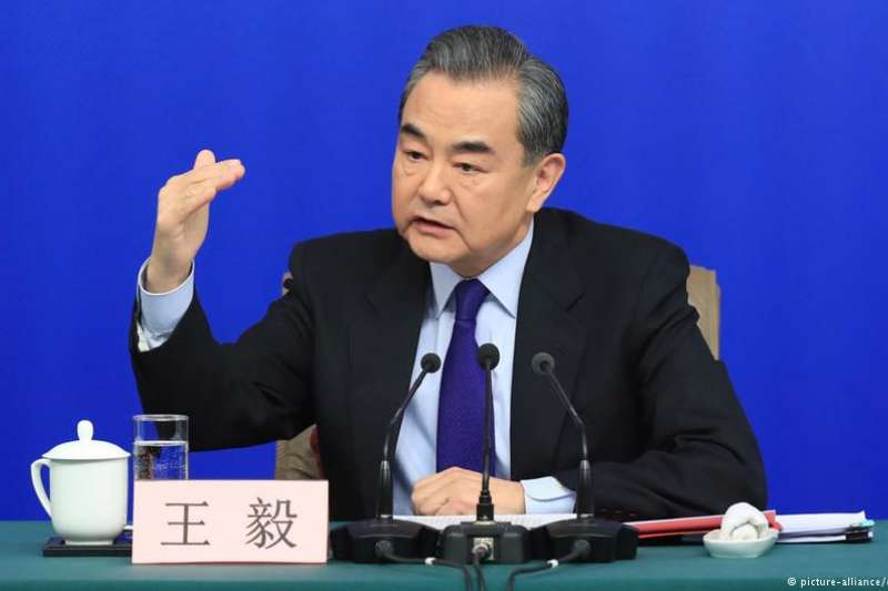中國外交部長王毅。(德國之聲)