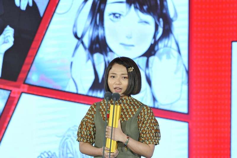柯宥希(筆名顆粒)以《有何不可》第3集拿下少女漫畫獎。(文化部提供)