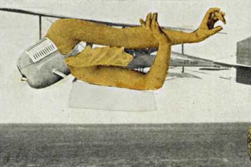 Max Ernst於1920年其參與達達運動時期以照片拼貼創作的「謀殺飛機」。私人收藏。(作者提供)