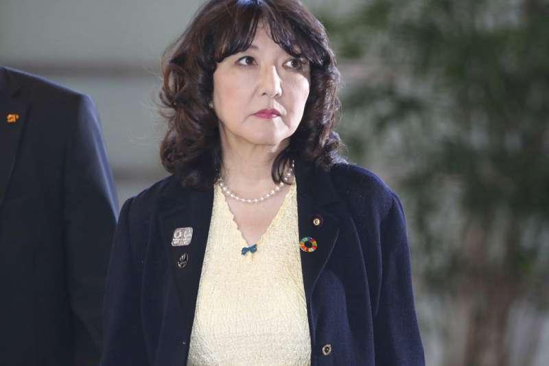安倍新內閣唯一一位女性閣員片山皐月。(美聯社)