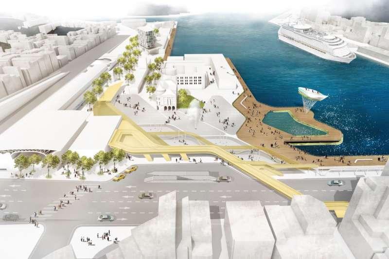 從西岸到東岸的基隆市港再生標竿計畫,將讓港區空間耳目一新。(圖/基隆市政府提供)