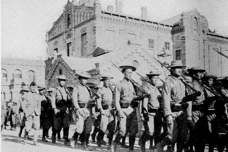 參加八國聯軍的華勇營。(取自維基百科)