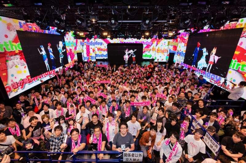 虛擬偶像絆愛甚至在去年10月舉辦了大型生日慶祝會。(官方臉書)