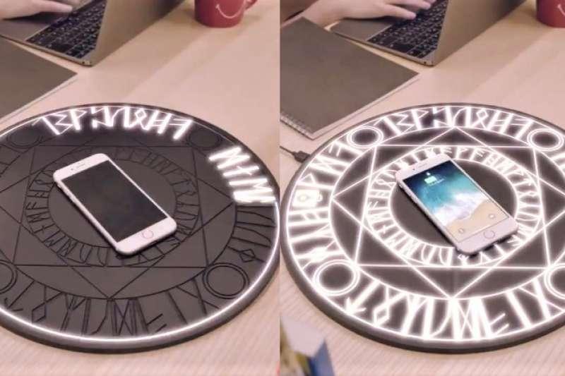 日本影像公司祭出超有創意的6秒商店企劃,其中「魔法陣充電器」讓網友大暴動,紛紛跪求商品化。(圖/翻攝自 6 秒商店,智慧機器人網提供)