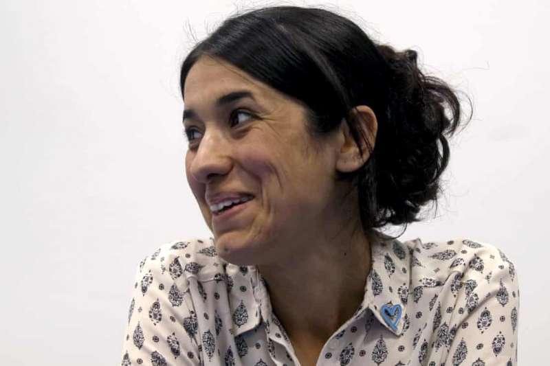 2018年諾貝爾和平獎得主:穆拉德(Nadia Murad)。(AP)