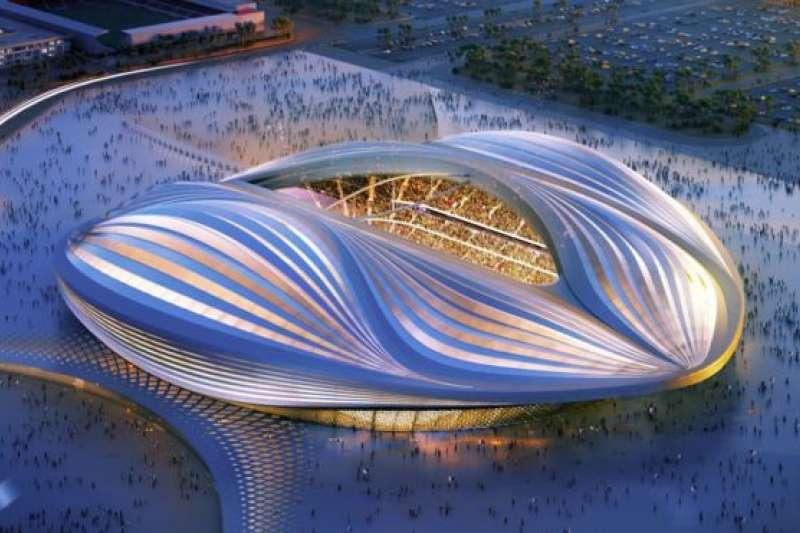 卡達為2022年世界盃建設的體育館Al Wakrah Stadium。(BBC中文網)