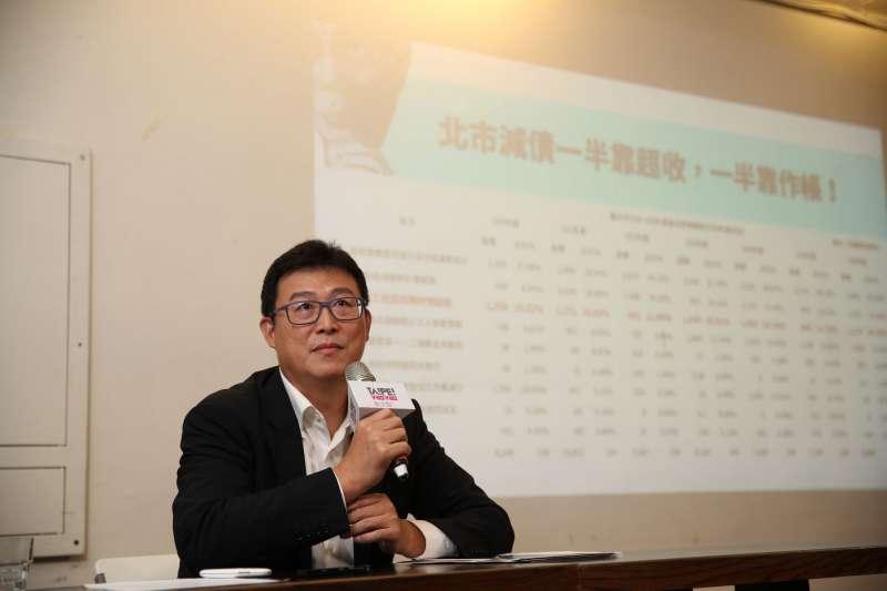 民進黨台北市長參選人姚文智批柯文哲還債多並非事實。(姚文智辦公室提供)