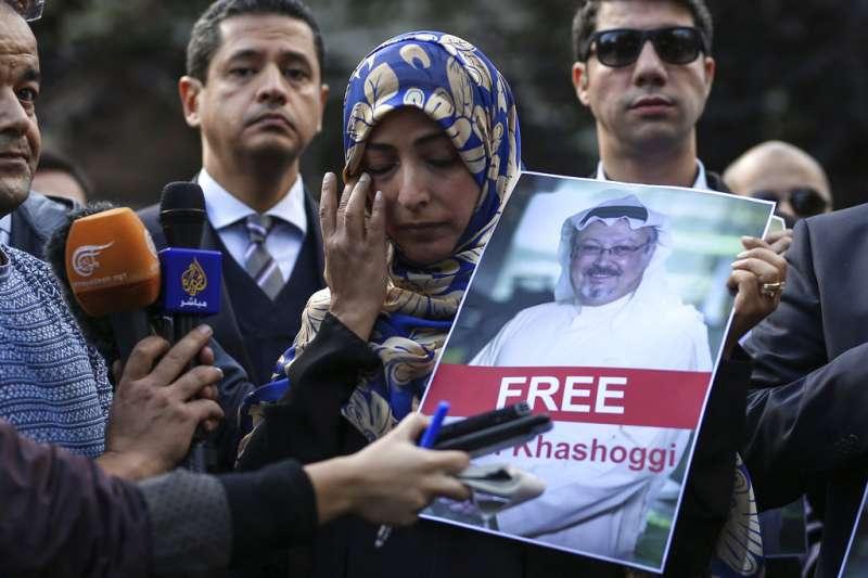 沙烏地阿拉伯知名記者哈紹吉(Jamal Khashoggi)離奇失蹤。2011年諾貝爾和平獎得主、葉門記者卡曼(Tawakkol Karman)5日出面聲援。(AP)