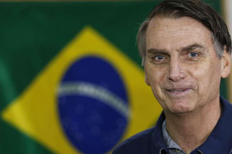 2018年巴西大選,10月7日進行總統、國會與地方選舉投票,總統候選人博索納羅(Jair Bolsonaro)(AP)