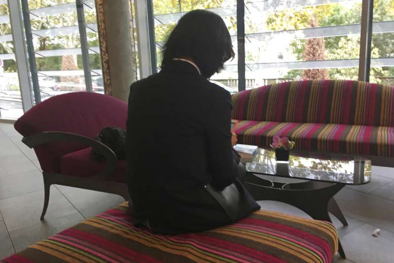 國際刑警組織孟宏偉的妻子葛雷絲・孟。(美聯社)