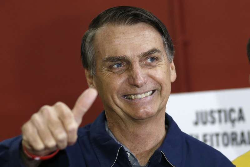 巴西大選:立場極右的「巴西川普」博索納羅在首輪投票勝出(AP)