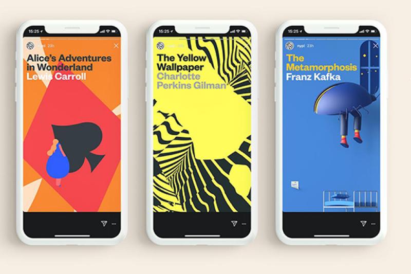 紐約公共圖書館在Instagram上以限時動態方式連載經典文學作品。(圖/取自紐約公共圖書館官方網站)