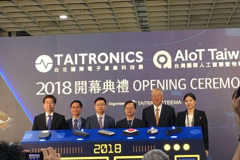 2018年「台北國際電子產業科技展」與「台灣人工智慧暨物聯網展」開幕。(風傳媒/攝)