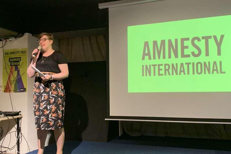國際特赦組織LGBT人權研究員卡特(Laura Carter)(簡恒宇攝)