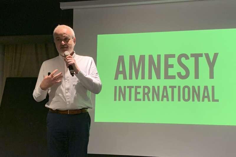 國際特赦組織愛爾蘭分會秘書長歐高曼(Colm O'Gorman)(簡恒宇攝)