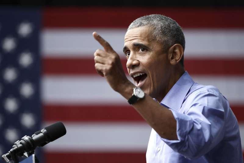 20181010-美國前總統歐巴馬。(美聯社)