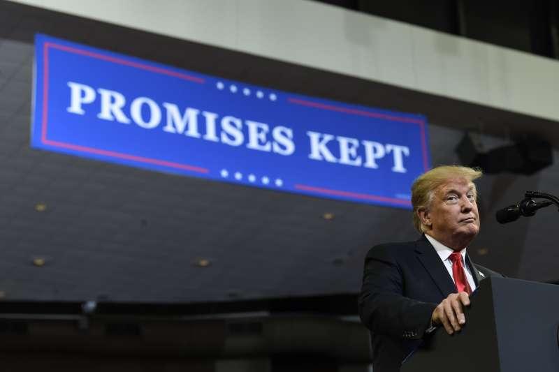 2018年10月,美國總統川普(AP)