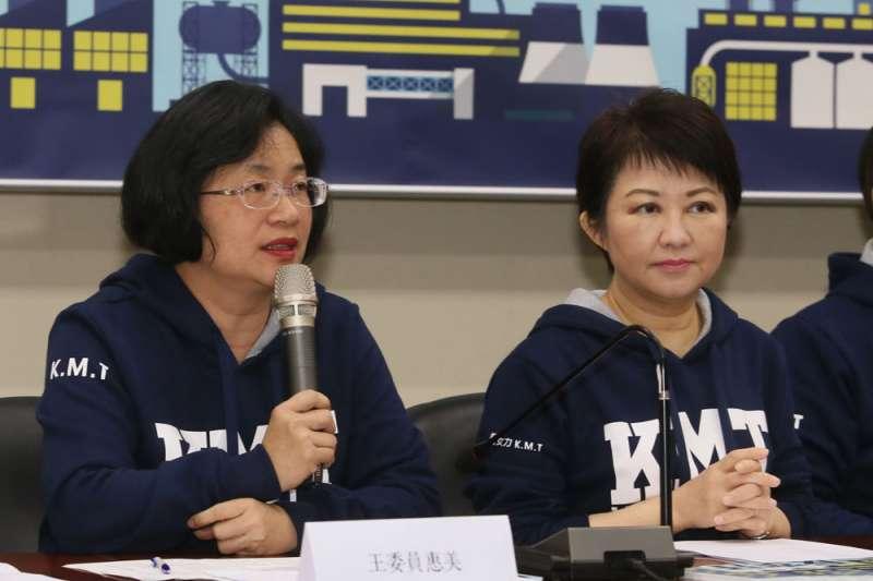 國民黨要贏回中台灣,王惠美(左)、盧秀燕(右)能解決多少派系矛盾是關鍵。(柯承惠攝)
