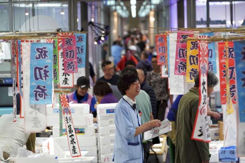 取代原本築地市場的「豐洲市場」11日正式開張,同時舉行首次競標。(美聯社)
